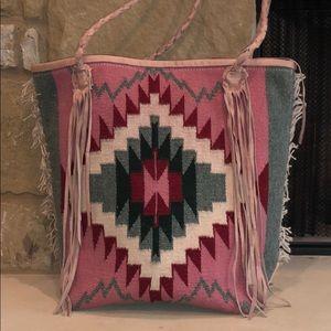 Handbags - Totem Salvaged Pink Serape Tote